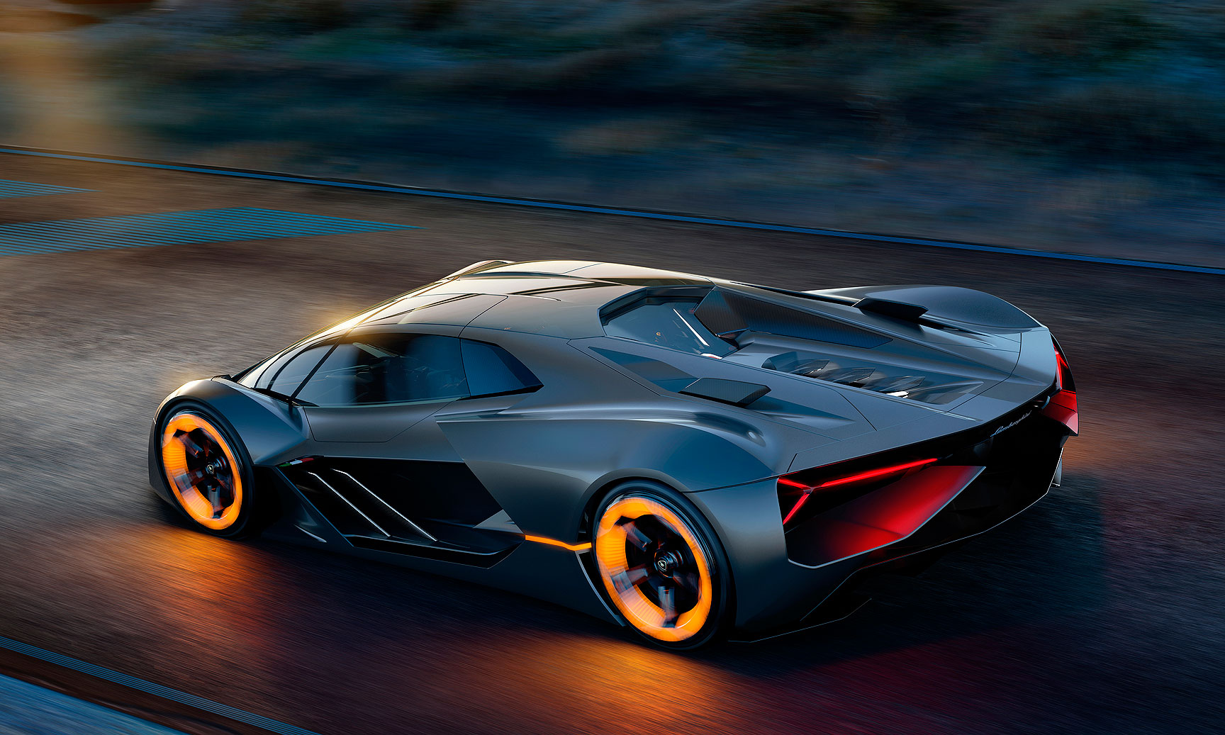 Lamborghini Envisions Self Healing Electric Supercar