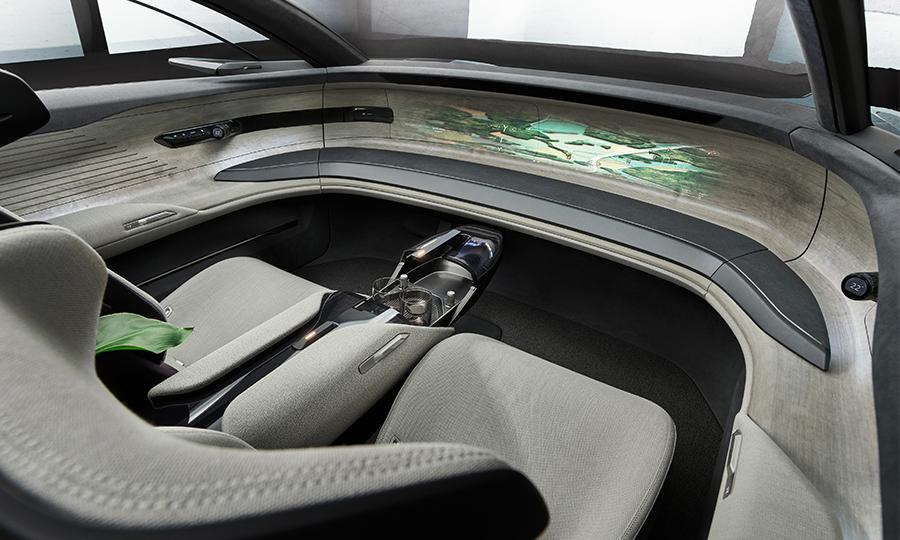 Audi Grandsphere interior without a steering wheel