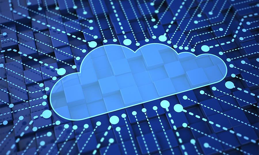 Photo illustration for cloud computing