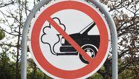 Sign prohibiting emissions