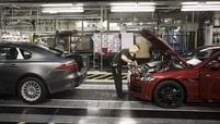 Production at Jaguar Land Rover's factory in Castle Bromwich, shown, will be stopped temporarily.