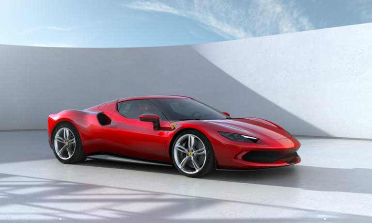 Ferrari says the 296 GTB's short wheelbase and monolithic, sculpted structure gives the car an extremely compact line.