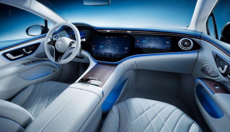 Mercedes EQS challenges Tesla Model S with full-width interior screens