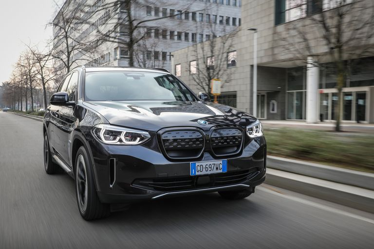 BMW iX3 while driving