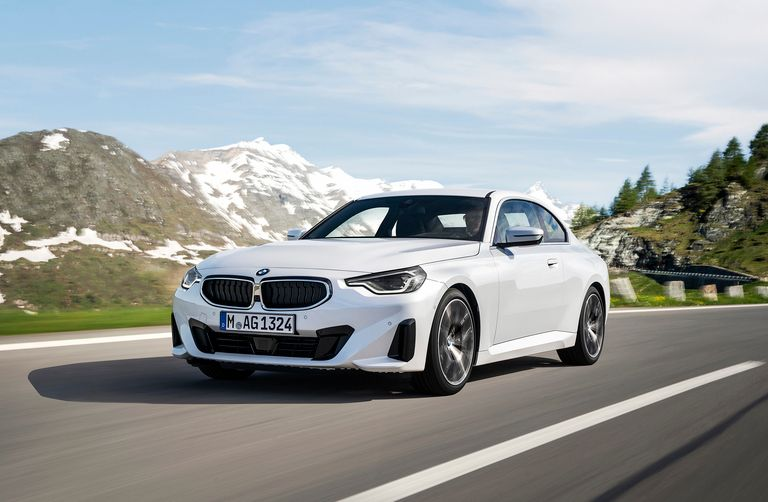 The 2 Series Coupe keeps the long hood of its predecessors to denote its rear-drive architecture. Its redesign also keeps the automaker's traditional small kidney grille.
