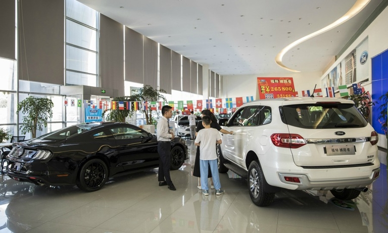 China's vehicle sales rise for 4th month