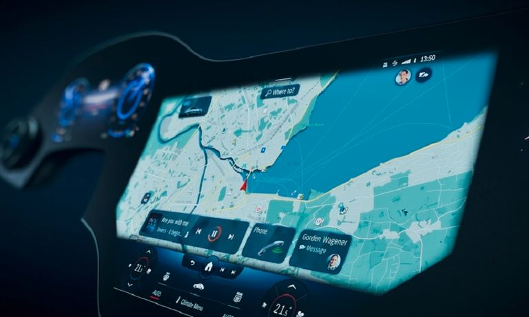 Mercedes supersized display aims to outdo Tesla's hallmark touchscreen