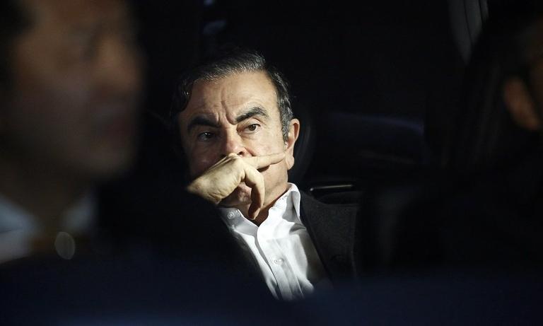 Ghosn leaves prison BB web.jpg