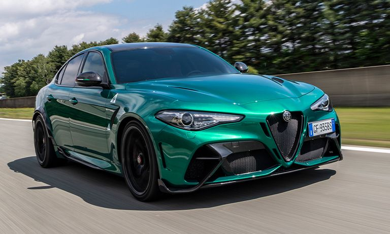 Alfa Romeo Giulia GTA on a racetrack