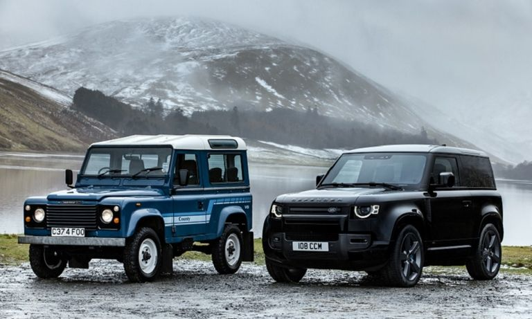 Land Rover Defenders old and new