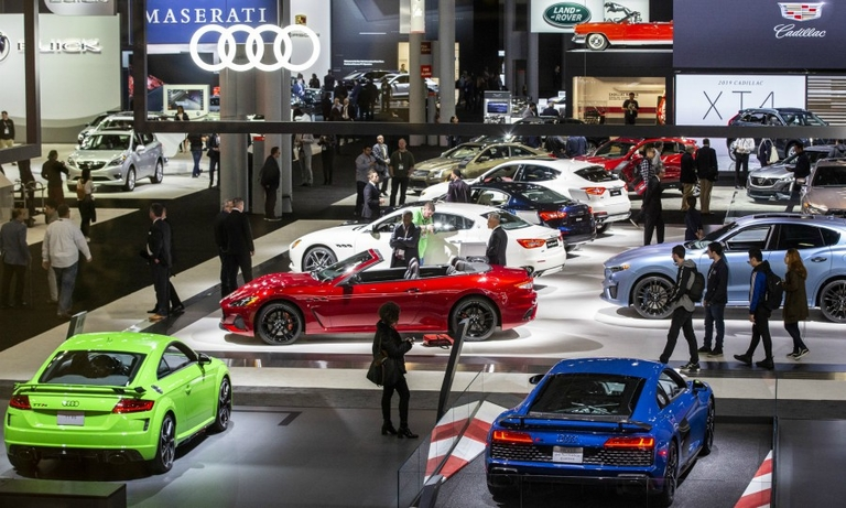 New York auto show stocks up on disinfectant