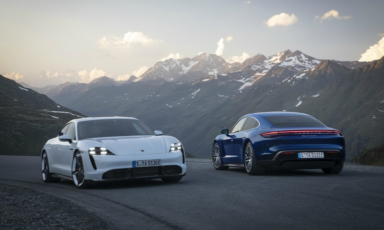 Porsche promotes Taycan's Tesla-topping recharge speed