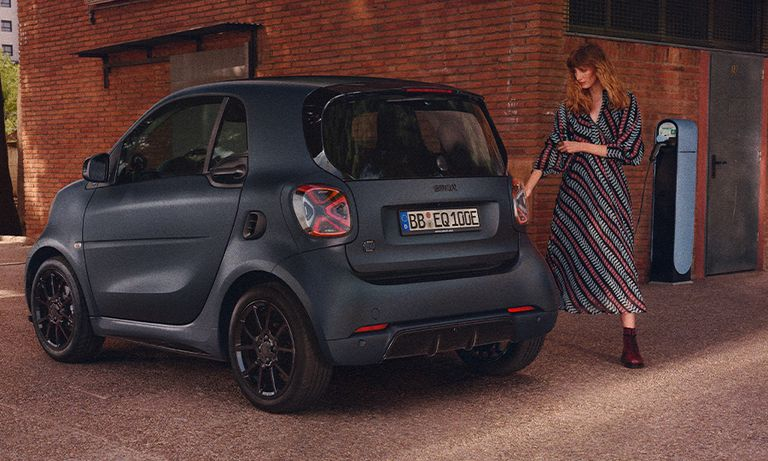 Smart EQ ForTwo electric being charged
