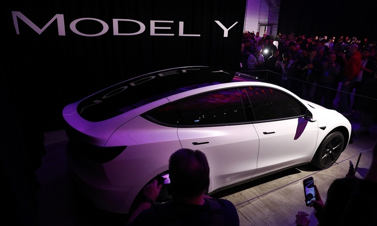 Tesla's Model Y is a no-show at Shanghai show