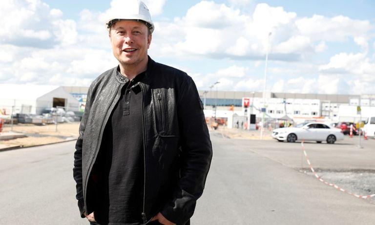 Tesla Musk at Germany factory May 17, 2021