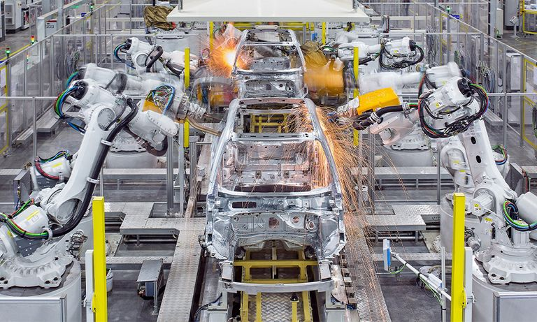 Volvo manufacturing in Luqiao China