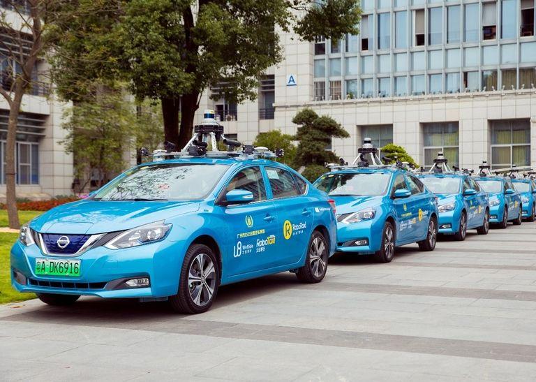 WeRide robotaxi fleet in China