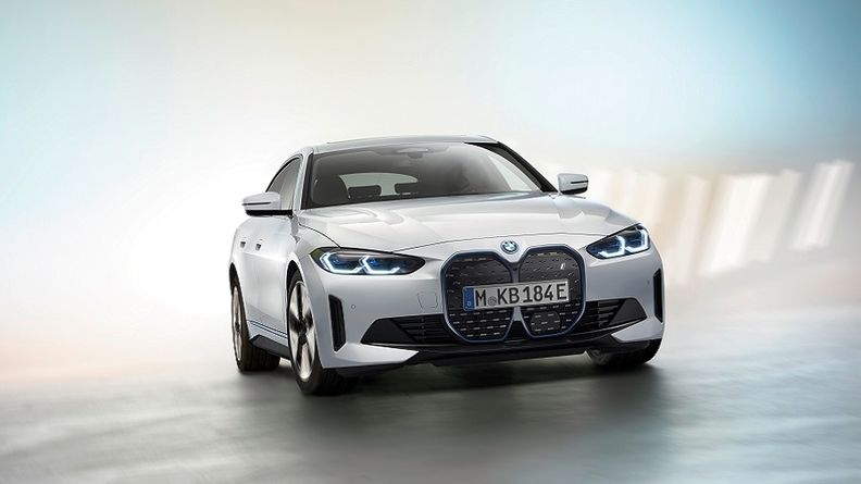 The BMW i4 full-electric sedan will roll out this year.
