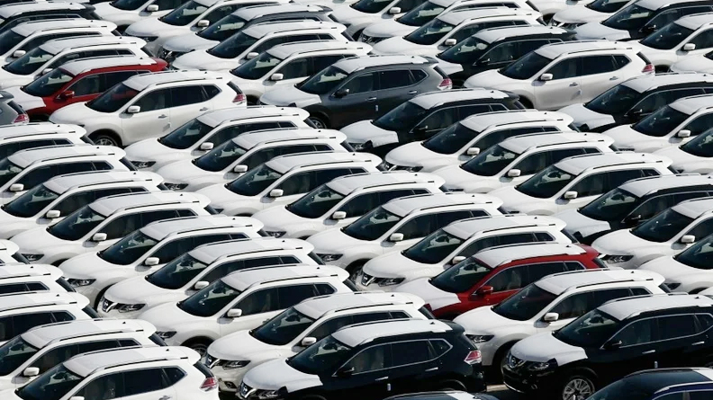 Vehicles stored for sale