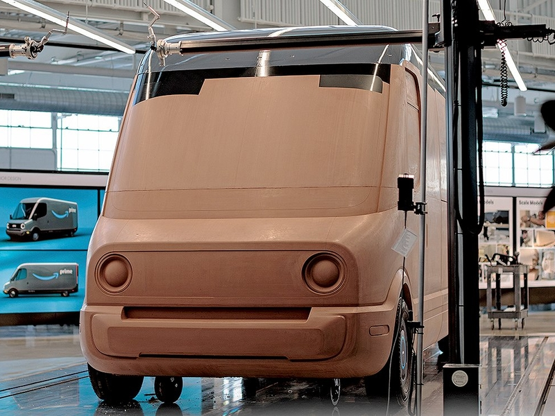 Rivian's electric delivery vans for Amazon take shape