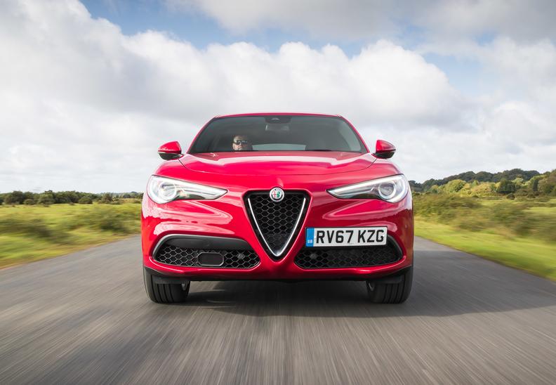 Front end view of Alfa Stelvio