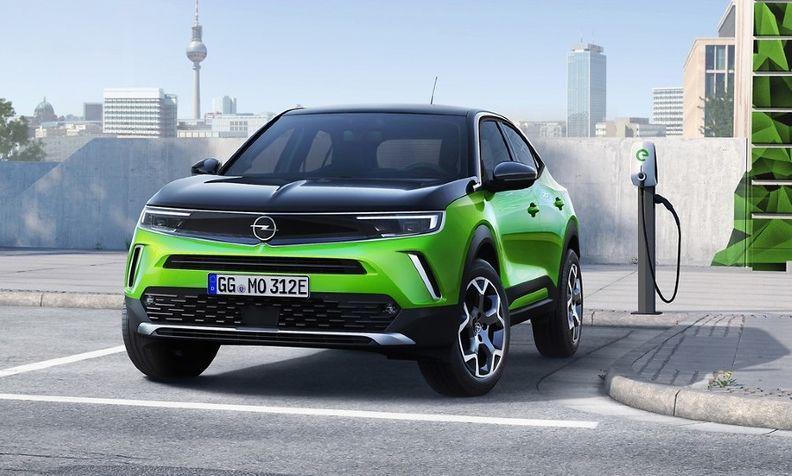 The Opel Mokka-e full-electric small SUV