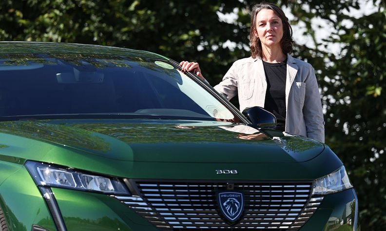 Peugeot 308 Project Leader Agnes Tesson-Faget with a new 308