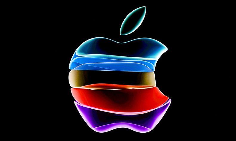 Multicolored Apple logo