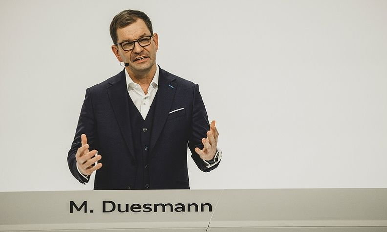 To maintain production, Audi may build cars without some components and add them later, Duesmann said.
