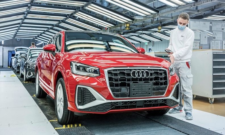 Audi is cutting production on two lines at its Ingolstadt plant producing the A3, A4 and A5 sedans.