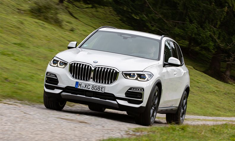 BMW X5 xDrive45e plug-in hybrid during testing