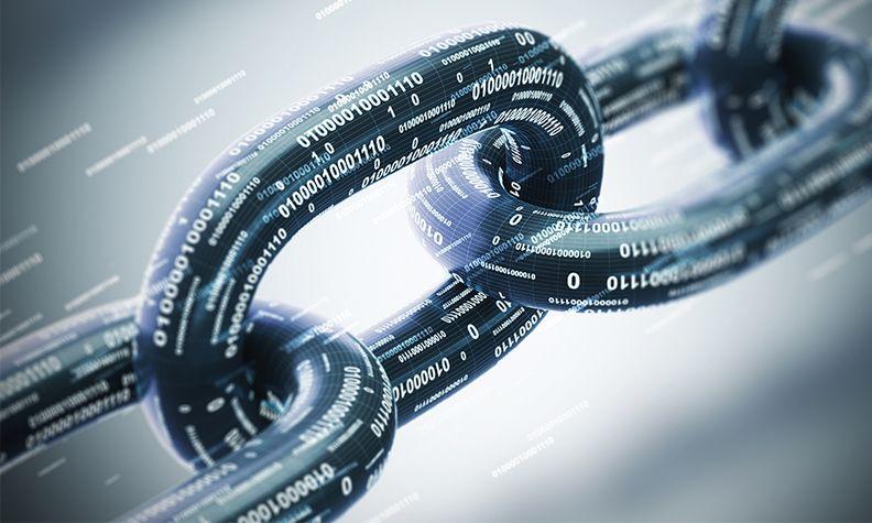 Blockchain photo illustration