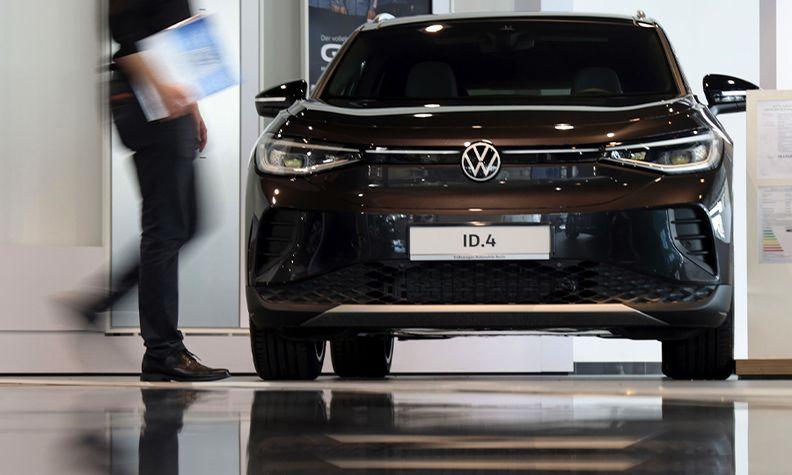 VW ID4 in Berlin dealership