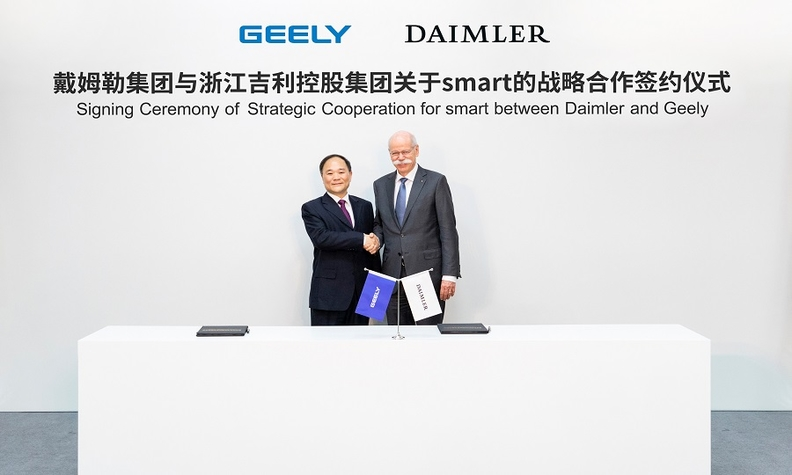 Daimler, Geely form 50-50 joint venture to operate Smart brand