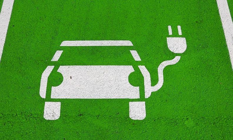 Electric car parking place