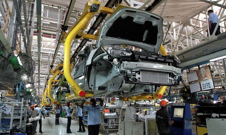 Workers at Ford India in Chengalpattu