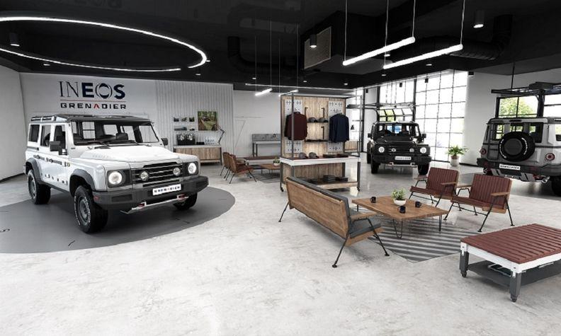 INEOS Grenadier showroom