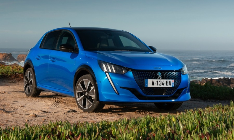 The Peugeot 208, shown in full-electric version, was the best-seller in France in March.