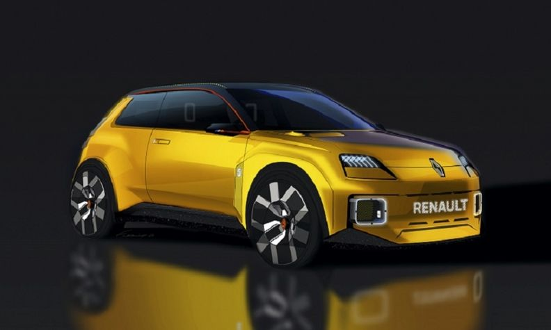 The Renault 5 electric car, shown as a concept, will be built at the automaker's factory in Douai. China's Envision AESC is expected to supply its batteries.