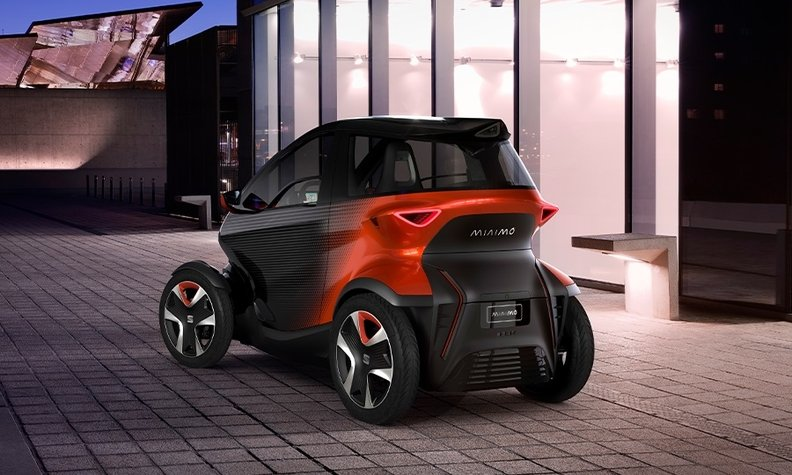 Volkswagen Brand Seat S Motorcycle Like Minimo Concept Challenges Renault Twizy