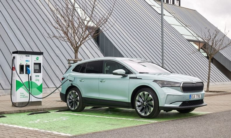The Skoda Enyaq compact SUV, shown, will get a smaller sibling, the Elroq.