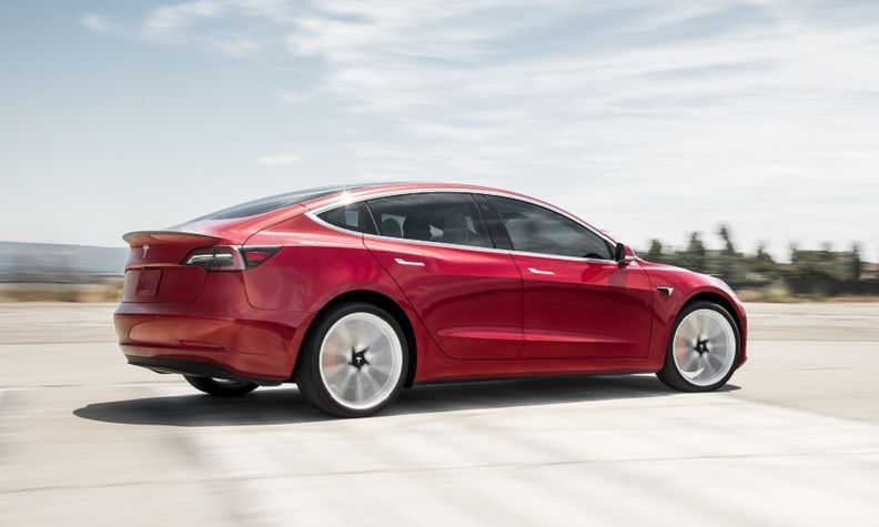 Tchibo is offering the Tesla Model 3 for 777 euros ($924) a month.