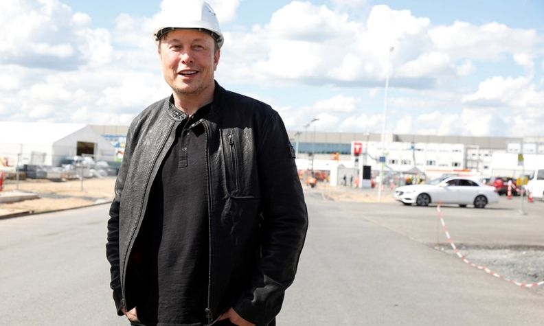 Tesla Musk at Germany factory