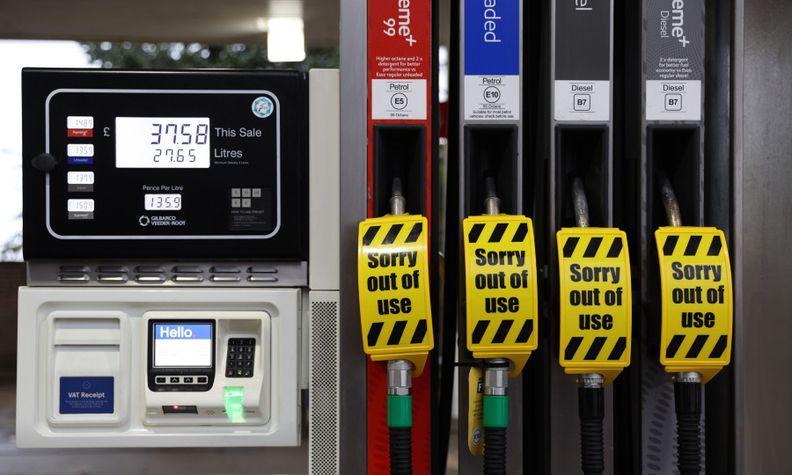 UK fuel pumps