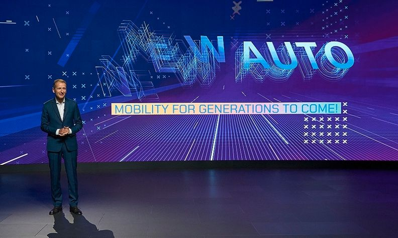 VW's Diess presents the automaker's strategy through 2030, which it calls New Auto.