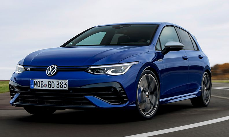 VW Golf R variant during testing in 2021