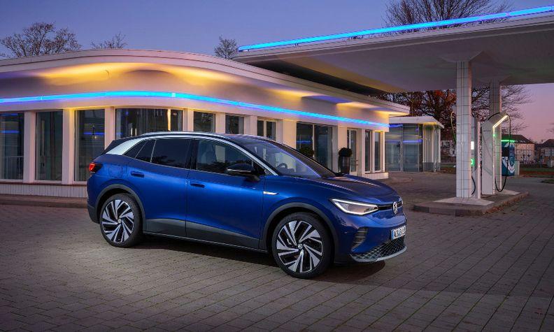 VW ID4 blue