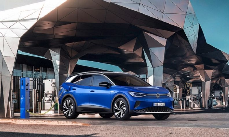 The battery-powered VW ID4 is a key model in the brand's electric push