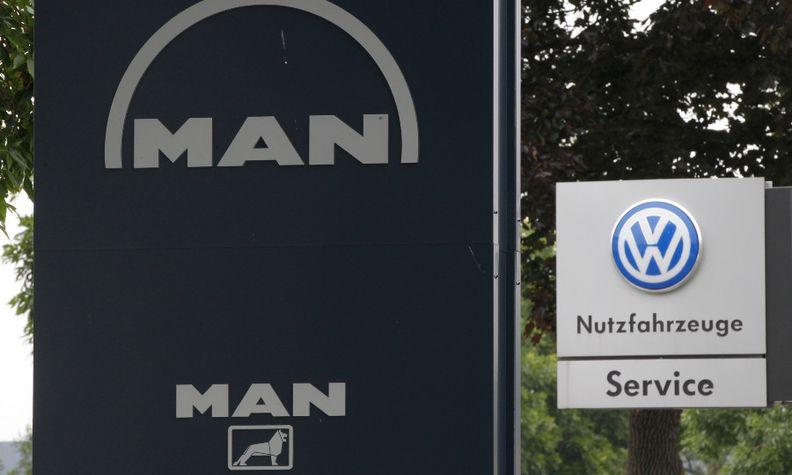 VW MAN sign