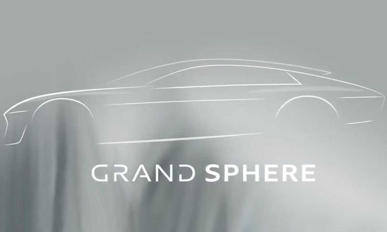 The outline of the Grand Sphere concept resembles an A7-styled sedan.